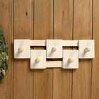 Вешалка деревянная, комбинированная, 5 креплений - фото 4641921