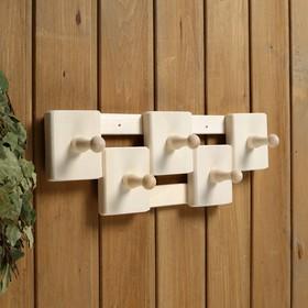 Вешалка деревянная, комбинированная, 5 креплений - фото 4641922