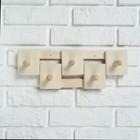 Вешалка деревянная, комбинированная, 5 креплений - фото 4641923