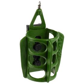 Груз-кормушка пл. X-FEEDER PL GREEN ROUND WING MIDDLE, 90 г (35 мл, цвет зеленый)