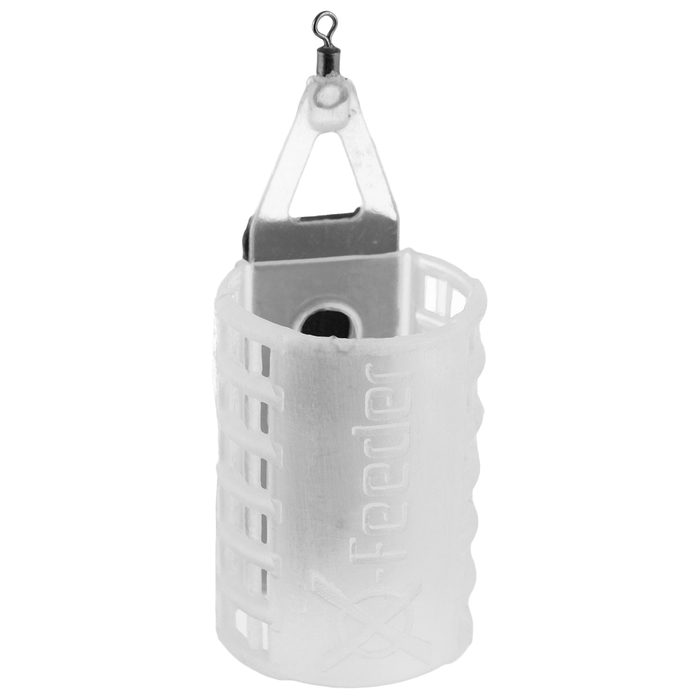 Груз-кормушка X-FEEDER PL GLASS CLASSIC MIDDLE, 70 г, 35 мл, полупрозрачный - фото 698800423