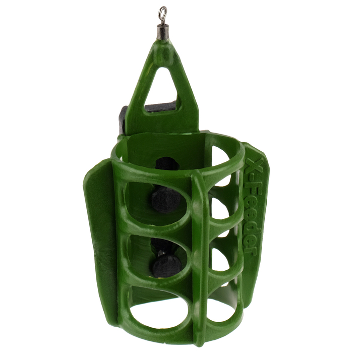 Груз-кормушка X-FEEDER PL GREEN ROUND WING MIDDLE, 110 г, 35 мл, цвет зелёный - фото 700375225