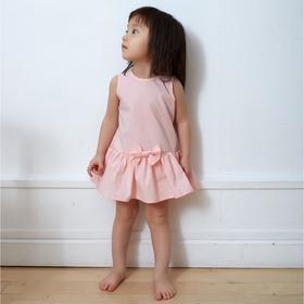 Платье-боди для девочки MINAKU: cotton collection цвет розовый, рост 68 см
