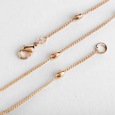 "Chain ""Euphoria"" oval beads, 48cm, color gold"