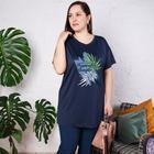 Туника женская, цвет синий, размер 52