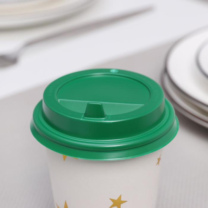 Крышка на стакан с носиком, 8 см, цвет зелёный