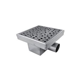 """Трап """"Душ Сити"""" BAD411502, 150 х 150 мм, с горизонтальным выпуском, сухой гидрозатвор"""