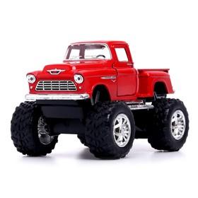 Машина металлическая Chevy Stepside Pick-up (Off Road), 1:32, открываются двери, инерция, МИКС
