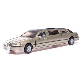 Машина металлическая Lincoln Town Car Stretch Limousiner, 1:38, открываются двери, инерция, МИКС