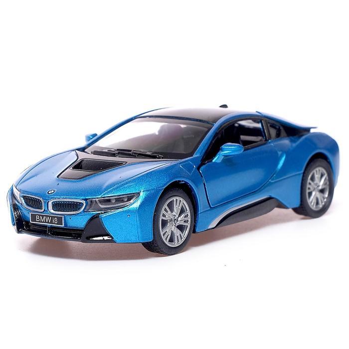 Машина металлическая BMW i8, 1:36, открываются двери, инерция, МИКС - фото 105651268