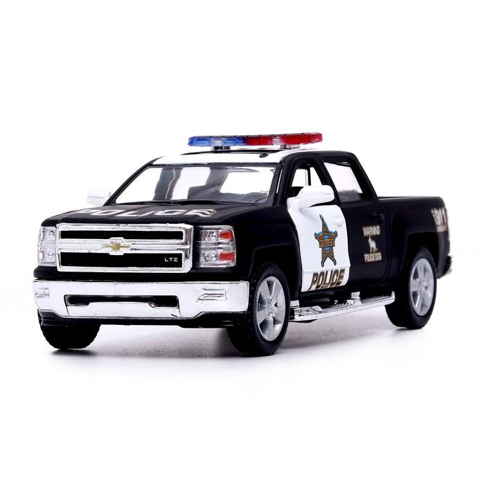 Машина металлическая Chevrolet Silverado, 1:46, открываются двери, инерция - фото 1018305