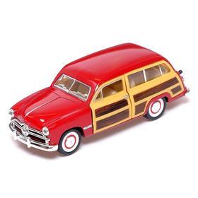 Машина металлическая Ford Woody Wagon, 1:40, открываются двери, инерция, МИКС