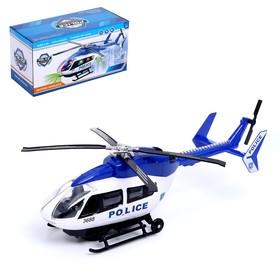Вертолёт «Полиция», световые и звуковые эффекты, работает от батареек