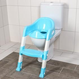 Детская накладка - сиденье на унитаз с ножками и ступенькой