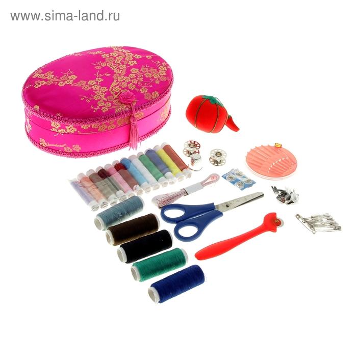 Набор для шитья в шкатулке, 30 предметов, цвета МИКС