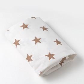 Простыня на резинке 10х60х120 см, Звезды крупные, цв 8130/4, бязь