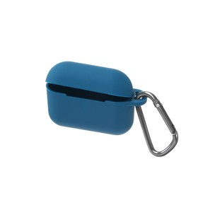 Чехол HANG Silicone Case с карабином для AirPods Pro, синий