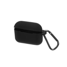Чехол HANG Silicone Case с карабином для AirPods Pro, чёрный