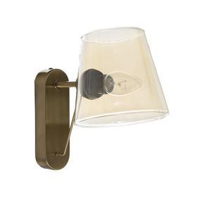 """Бра """"Адонис"""" 1х40Вт Е14 тонированный плафон черный-латунь 25х13,5х22 см"""