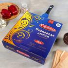 "Сковорода ""Шоколад"", 28х7 см, съёмная ручка, стеклянная крышка - фото 739923"