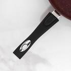 Сковорода «Шоколад», 24×6,5 см, съёмная ручка, стеклянная крышка - фото 739927