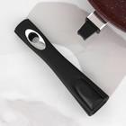 Сковорода «Шоколад», 24×6,5 см, съёмная ручка, стеклянная крышка - фото 739928