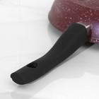 Сковорода «Шоколад», 24×6,5 см, съёмная ручка, стеклянная крышка - фото 739929