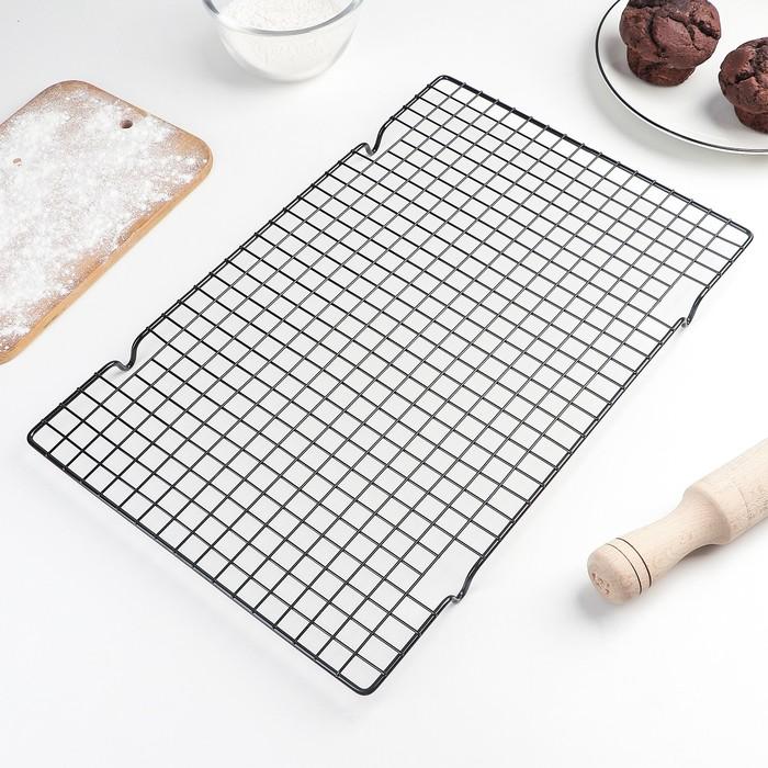Решётка для глазирования и остывания кондитерских изделий, 25×40 см, цвет МИКС