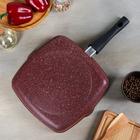 Сковорода-гриль «Шоколад», 26х26 см, съёмная ручка - фото 740025