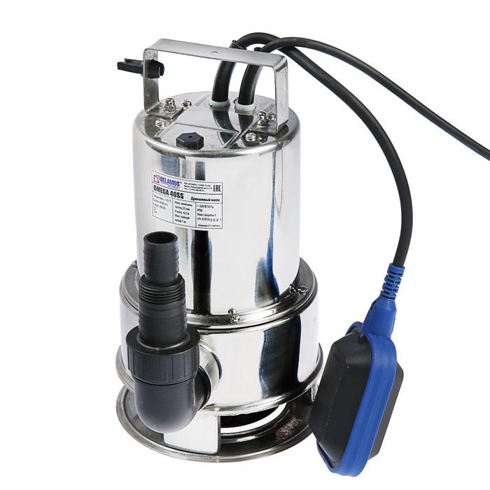 """Насос дренажный """"Беламос"""" Omega 40 SS, для гряз. воды 400 Вт, 6,5 м, 142 л/мин, кабель 10 м"""