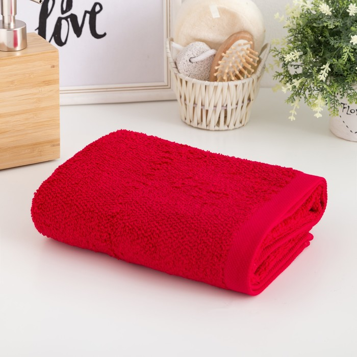 Полотенце махровое Этель «Терри» 50x90 см, красный