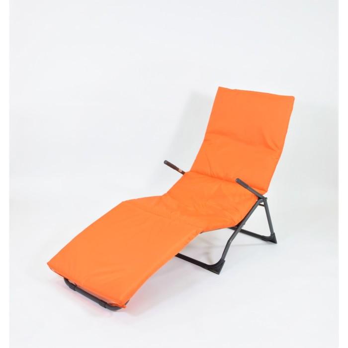 Подушка-матрас водоотталкивающ. 192х60х5 см, оксфорд 100% пэ, оранж, синтетич. волокно