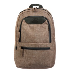 Рюкзак молодёжный GoPack 119S, 37 х 24 х 9, Сity, бежевый