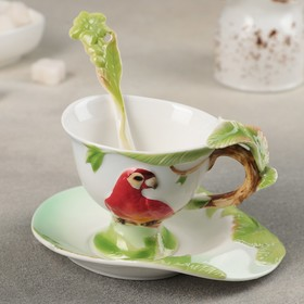 {{photo.Alt || photo.Description || 'Чайная пара «Ботаника. Ара», чашка 200 мл, блюдце 15,5 см, ложка'}}