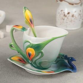{{photo.Alt || photo.Description || 'Чайная пара «Ботаника. Павлин», чашка 200 мл, блюдце 15 см, ложка'}}