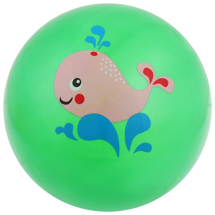 Мяч «Зоопарк», с наклейкой, d=15 см, цвета МИКС