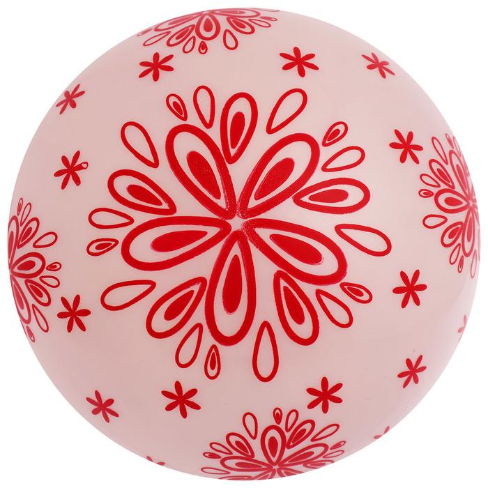 Мяч «Узоры», d=22 см, цвета МИКС