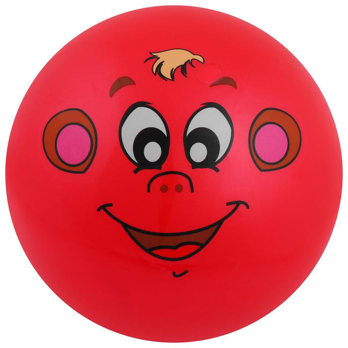 Мяч «Животные 2», с наклейкой, d=22 см, цвета МИКС