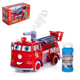 """Car """"Fire"""" with bubbles, runs on batteries, light and sound"""