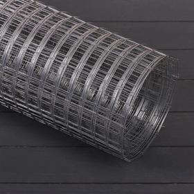 Сетка оцинкованная, сварная, 1 × 10 м, ячейка 25 × 50 мм, d = 1,2 мм, металл