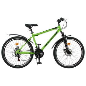 """Велосипед 26"""" Progress модель Advance Disc RUS, цвет зелёный, размер 17"""""""