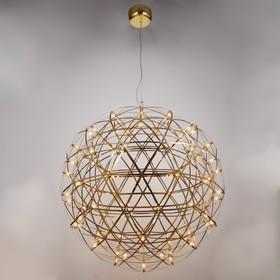 Люстра 669714/92 LED 55,2Вт 3000К золото 80х80х150 см