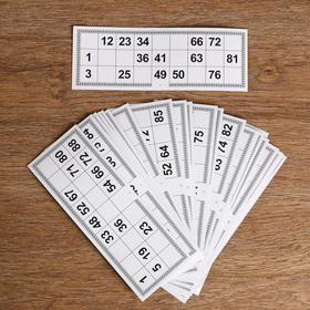 Карточки игровые для лото (набор 25 шт), 22х8 см
