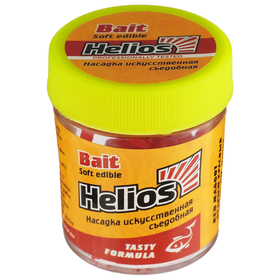 Насадка искусственная съедобная Helios «Опарыш красный» (HS-NO-RM)