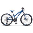 """Велосипед 24"""" Stels Navigator-460 MD, К010 , цвет чёрный/синий"""