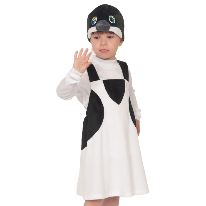 Карнавальный костюм «Ласточка», плюш, полукомбинезон, маска, рост 92-122 см - фото 105521086