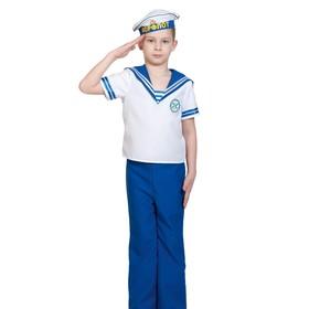 Карнавальный костюм «Морячок», рубаха, брюки, бескозырка, р.30-32, рост 116-122 см