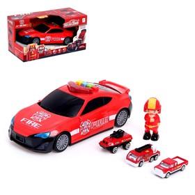 Гараж «Пожарная служба» с металлическими машинами