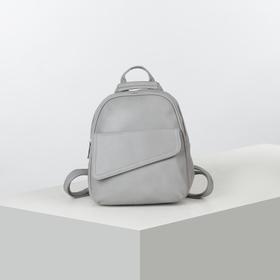Рюкзак молод L-892067, 24*9*29, отд на молнии, 2  н/кармана, серый