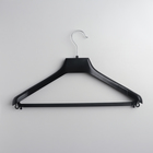 Вешалка для верхней одежды, размер 48-50, с перекладиной, цвет чёрный